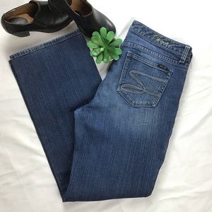 Flare Denim Jeans by Seven7